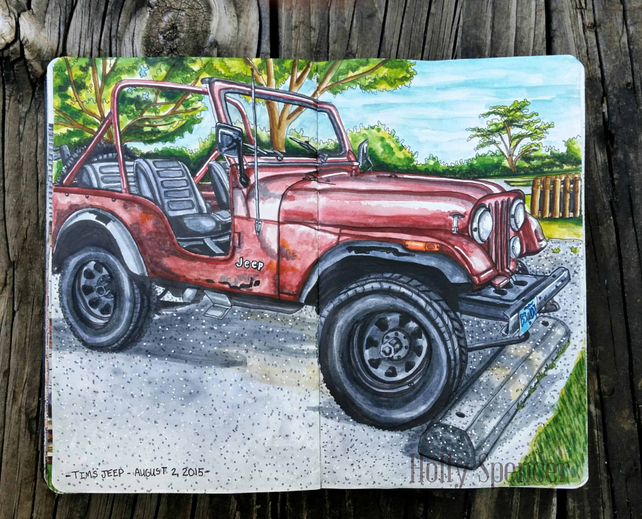 GUEST DOODLEWASH: Tim's Jeep