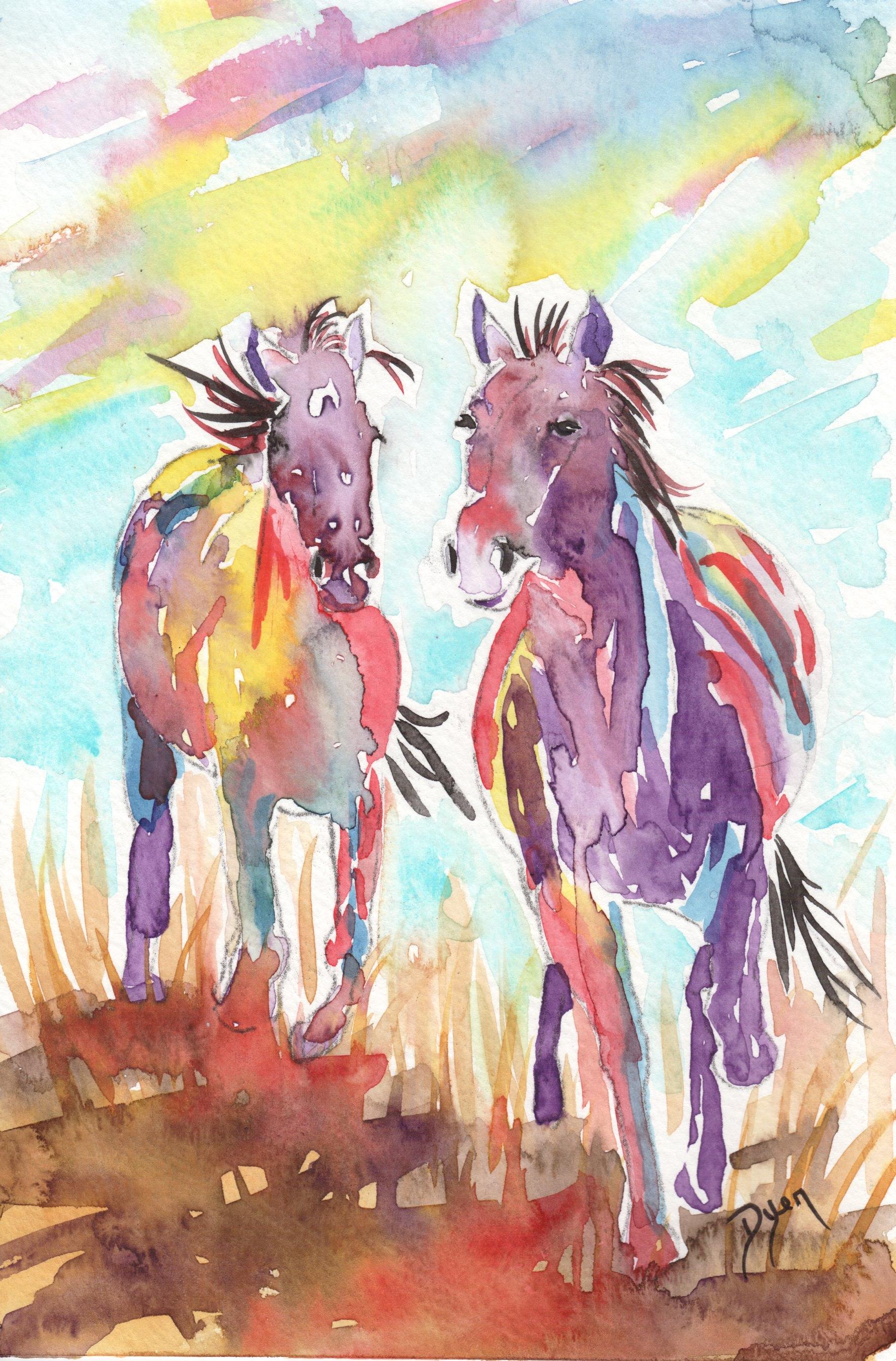 GUEST DOODLEWASH: Wild Horses