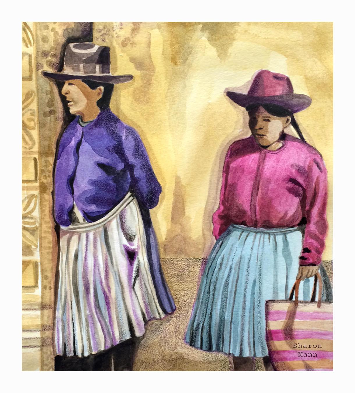 GUEST DOODLEWASH: Peruvian Women