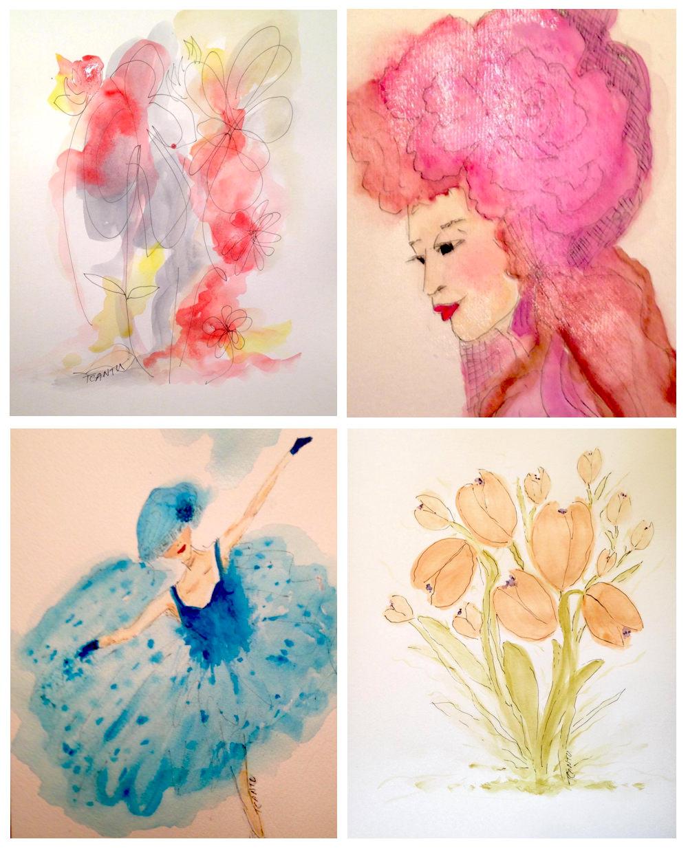 GUEST DOODLEWASH: Ladies & Flowers