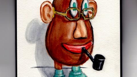 Smoking Mr. Potato Head