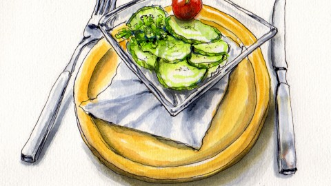 A Simple Cucumber Salad