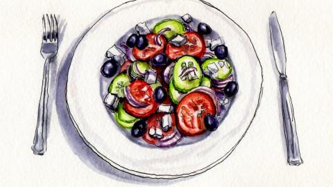 A Greek Salad For Summer
