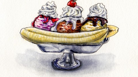 Banana Split – Two Spoons or One?