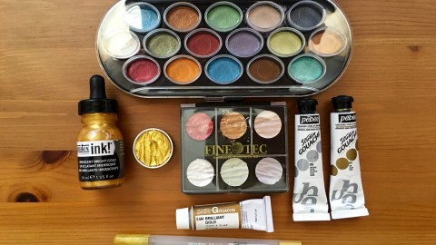 DOODLEWASH REVIEW: Gold & Luminous Paints and Inks