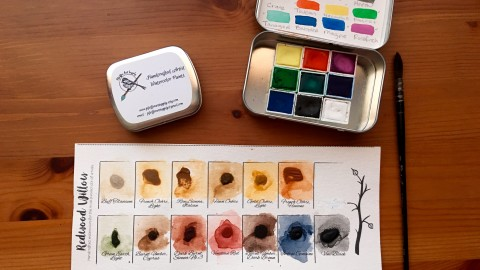 DOODLEWASH REVIEW: Handmade Watercolors- Pfeiffer Art Supply & Redwood Willow