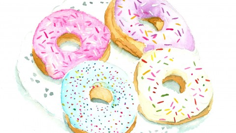 GUEST DOODLEWASH: Delicious Watercolor Illustrations