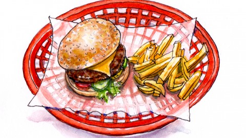 A Burger & Fries
