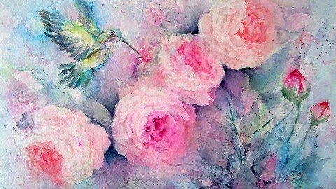 GUEST ARTIST: Fantasy Blooms In Watercolor