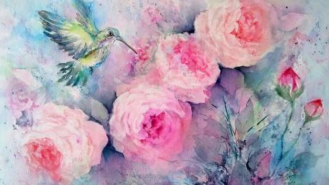 GUEST ARTIST: Fantasy Blooms In Watercolor