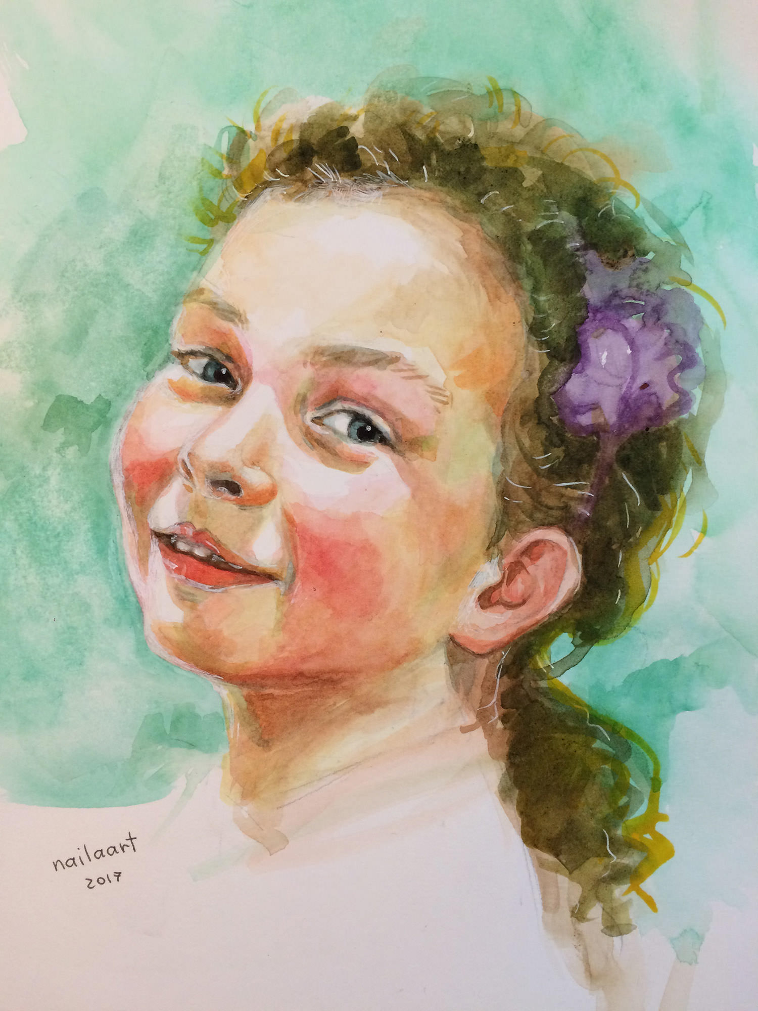38dba5862341 GUEST ARTIST  Watercolour Portraits ~ Doodlewash®