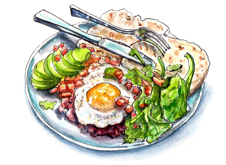 Блюдо картинки нарисованные