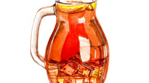 World Watercolor Month – Day 2 – Iced Tea In The Shade