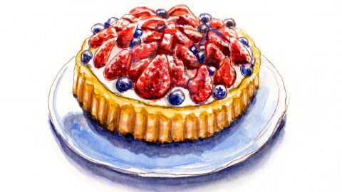 World Watercolor Month – Day 4 – Red, White And Blue