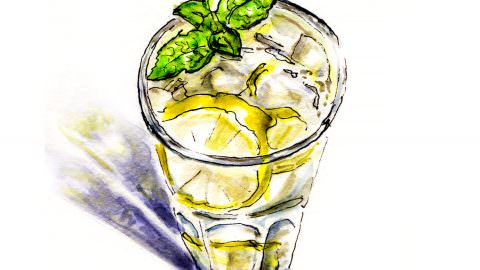 World Watercolor Month – Day 8 – Making Lemonade