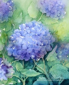 Hortensia – Original Watercolor