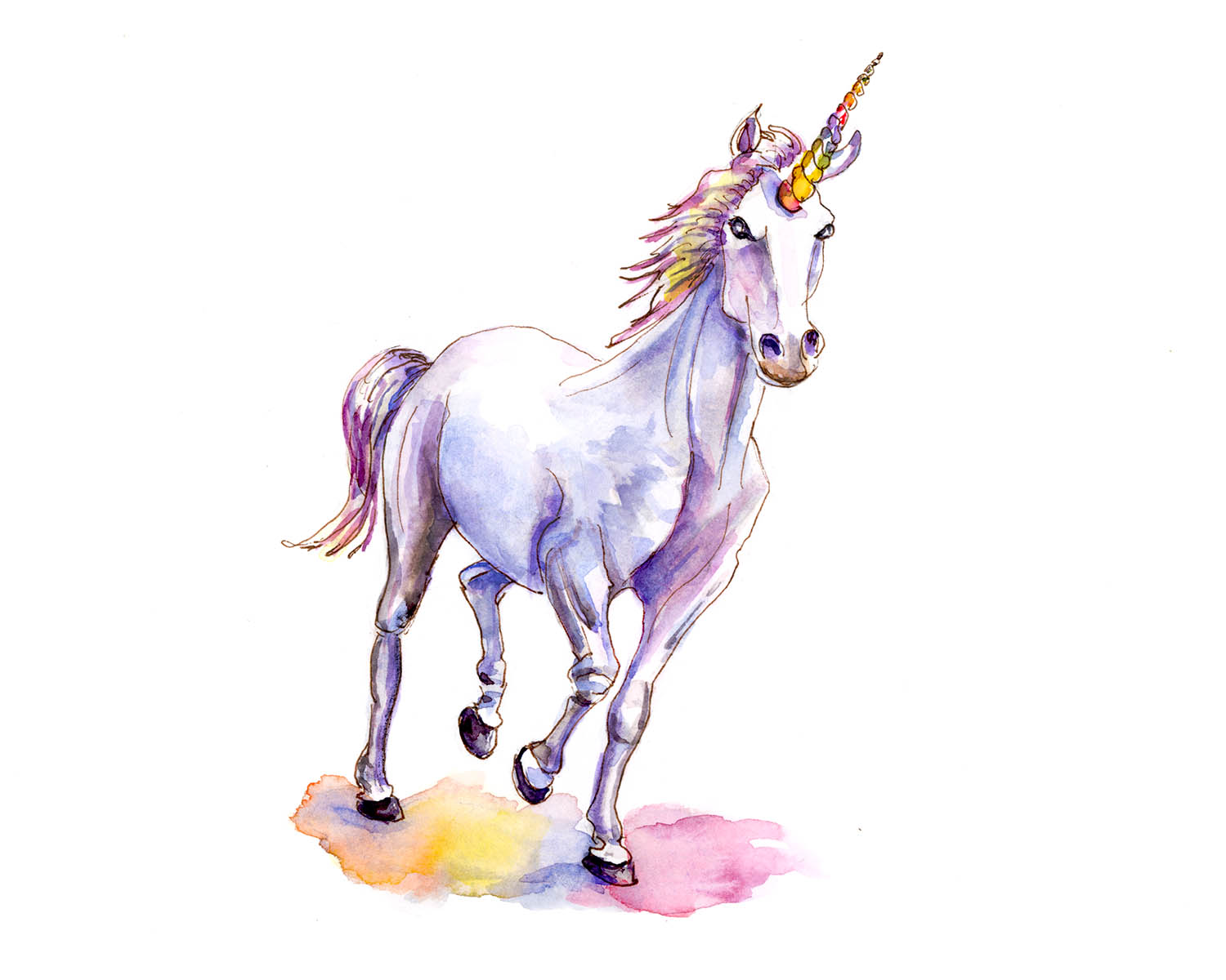 Cool Wallpaper Horse Abstract - Day-30-Unicorn-Watercolor-Illustration  Best Photo Reference_305425.jpg?w\u003d300