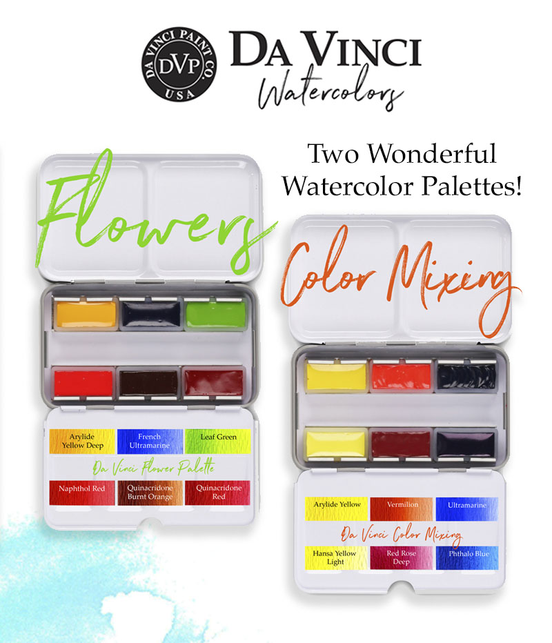 Da Vinci Watercolor Palettes Giveaway